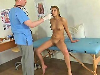 Sexy Young Lady Visits A Gynecologist